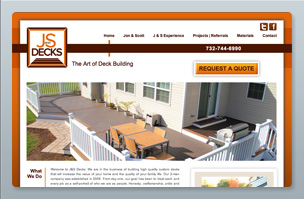 Web Design -JandS Decks