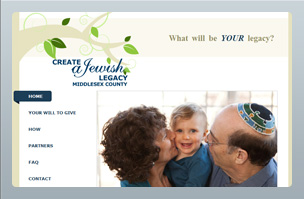 Web Design - Create a Jewish Legacy of Middlesex County