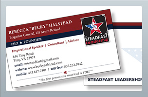Print Design -Business Cards - Steadfast Leadership
