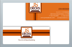 JandS Decks - Print Design - Business Cards