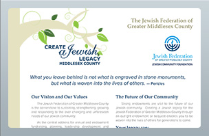 Print Design - Jewish Federation of Middlesex County