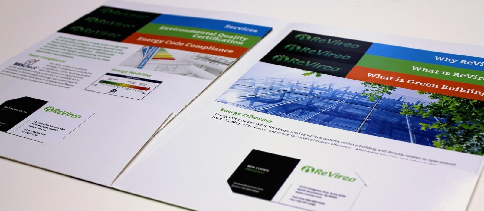 revireo folder graphic design print green