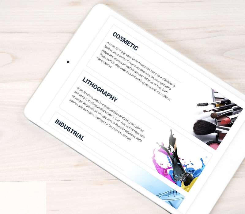 gum acacia website responsive mobile friendly web tablet