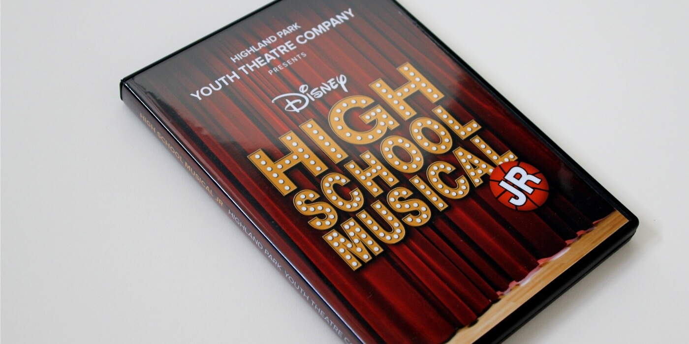 high school musical dvd print case play graphic design